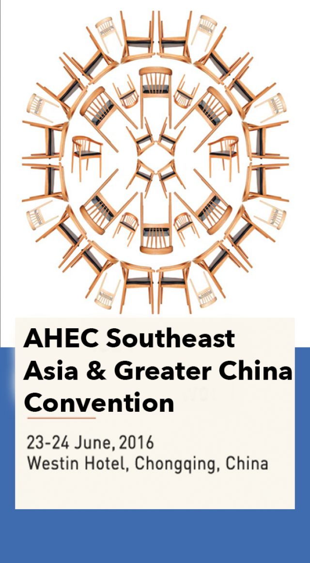 The 2016 AHEC Greater China and Southeast Asia Convention will be held in Chongqing, China on June 23rd and 24th.