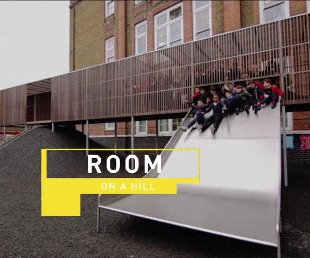Room on a Hill playground at Chisenhale Primary School designed by Asif Kahn